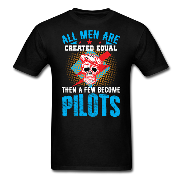 All Men Are Created Equal - Skull - Pilots - Unisex Classic T-Shirt - black