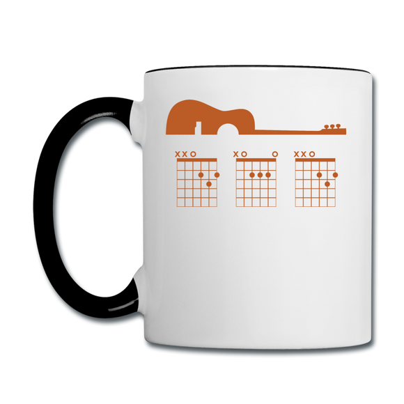 Dad - Guitar With Chords - Contrast Coffee Mug - white/black