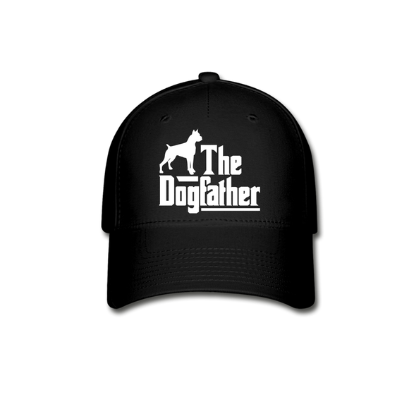 The Dog Father - White - Baseball Cap - black