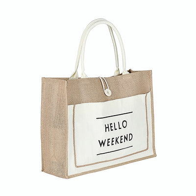 High quality ladies linen luxury tote
