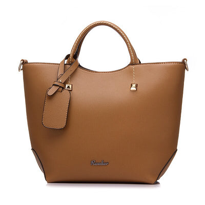 Fashionable leather large-capacity handbag