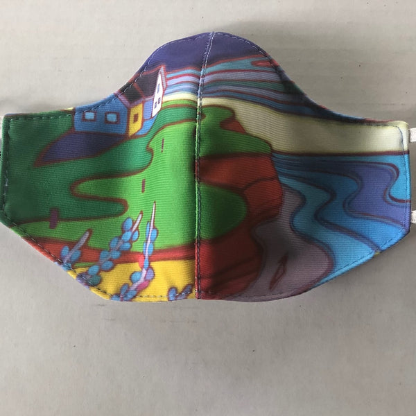 BEACH WALK FINE ART FASHION GRAPHIC MASK - BYOM.CA | BRING YOUR OWN MASK