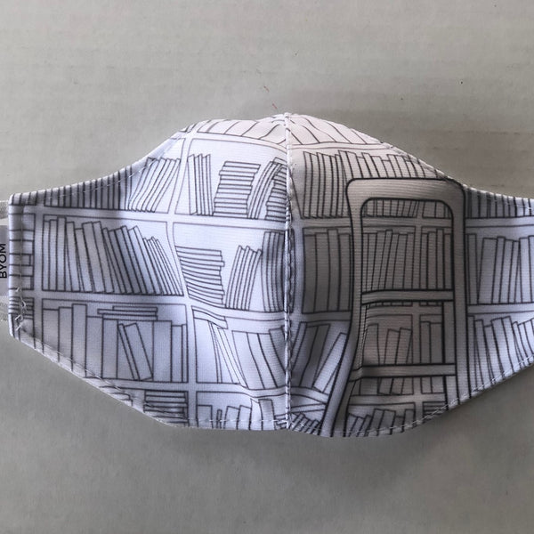 BOOKLOVERS FASHION GRAPHIC MASK - BYOM.CA | BRING YOUR OWN MASK
