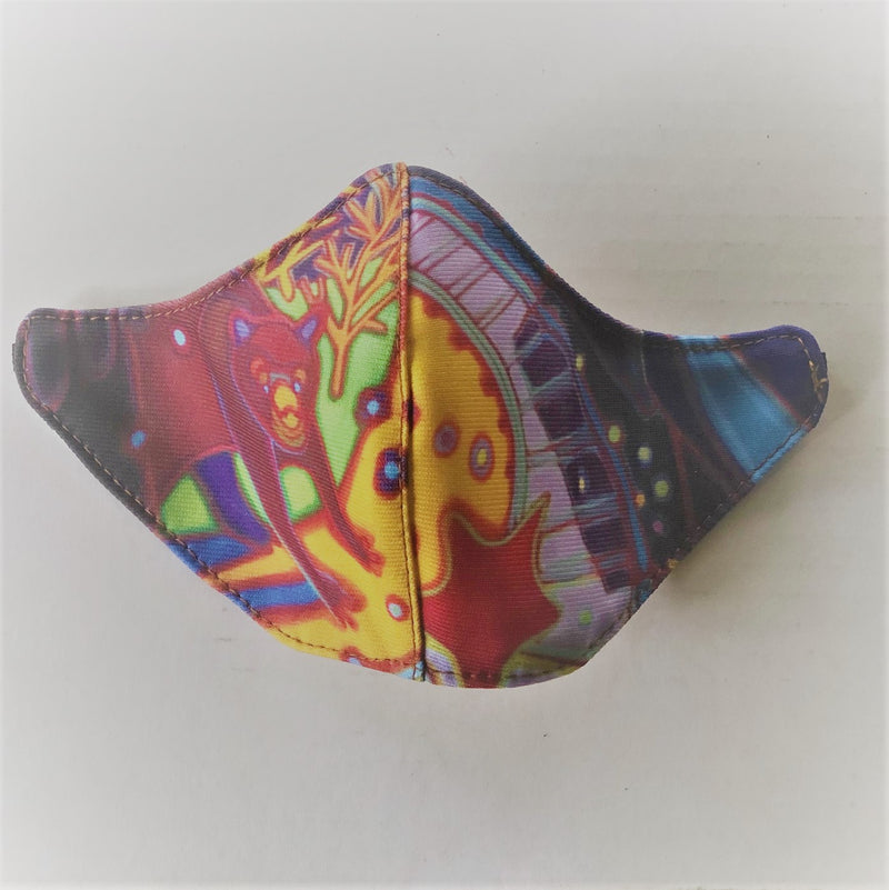 BEAR TRACKS FINE ART KIDS MASK - BYOM.CA | BRING YOUR OWN MASK