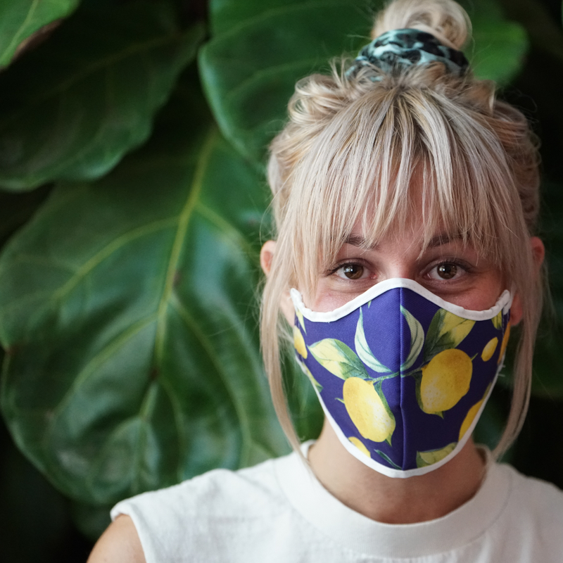 LEMONS AND PROVENCE FASHION GRAPHIC MASK - BYOM.CA | BRING YOUR OWN MASK