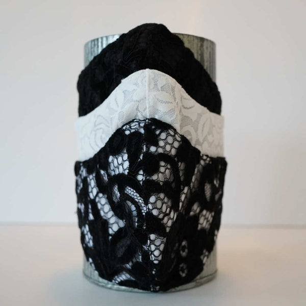 BRIDGERTON INSPIRED LACE FASHION FABRIC MASK - BYOM.CA | BRING YOUR OWN MASK