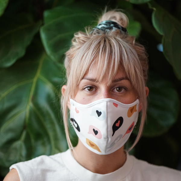 HEART CONVERSATIONS FASHION GRAPHIC MASK - BYOM.CA | BRING YOUR OWN MASK