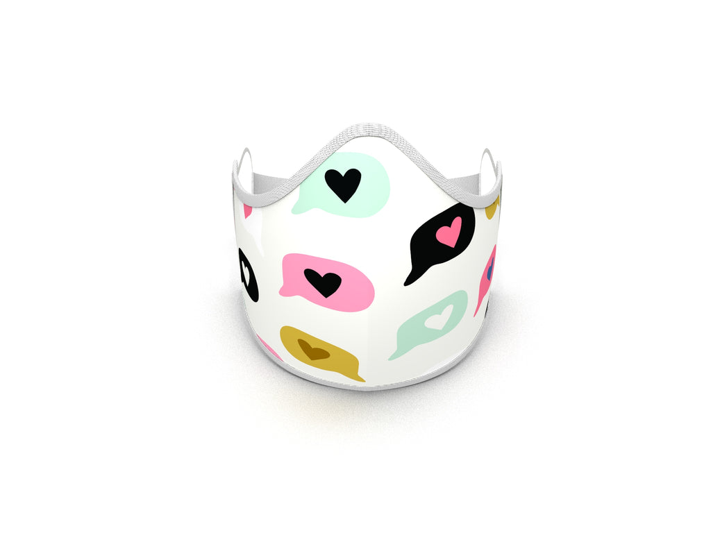 HEART CONVERSATIONS FASHION GRAPHIC MASK