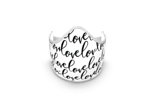 LOVE SCRIPT FASHION GRAPHIC MASK