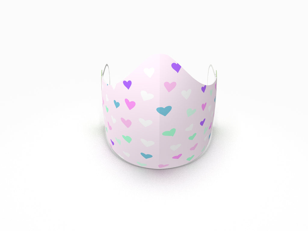 HEARTS FASHION GRAPHIC KIDS MASK