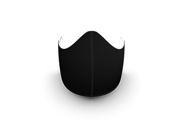 CARBON BLACK FASHION GRAPHIC FABRIC MASK - 3 LAYER - BYOM.CA | BRING YOUR OWN MASK