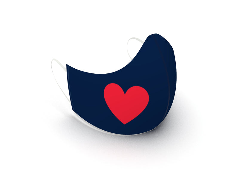 ULTRA LIGHTWEIGHT HEART MASK - BRAND NEW OUTER LAYER MATERIAL - BYOM.CA | BRING YOUR OWN MASK