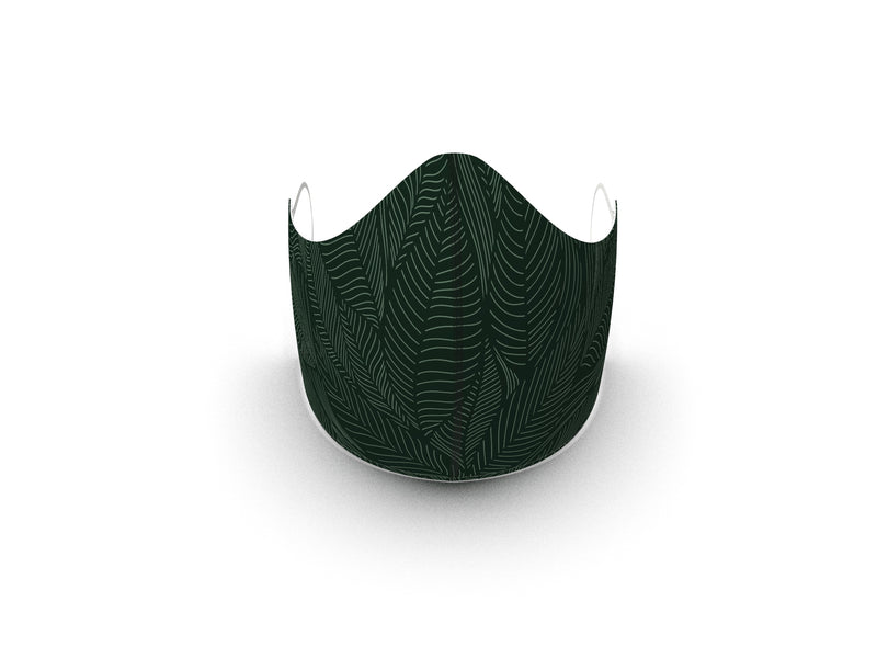 FERN FASHION GRAPHIC FABRIC MASK - 3 LAYER - BYOM.CA | BRING YOUR OWN MASK