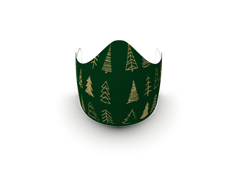 CHRISTMAS TREES FASHION GRAPHIC MASK - BYOM.CA | BRING YOUR OWN MASK