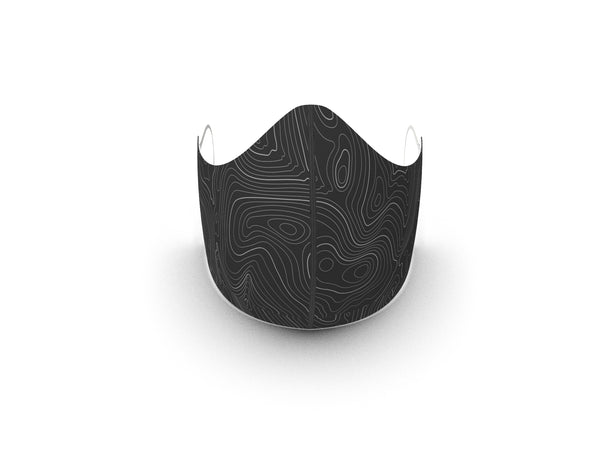 CONTOURS GREY FASHION GRAPHIC FABRIC MASK - 3 LAYER - BYOM.CA | BRING YOUR OWN MASK