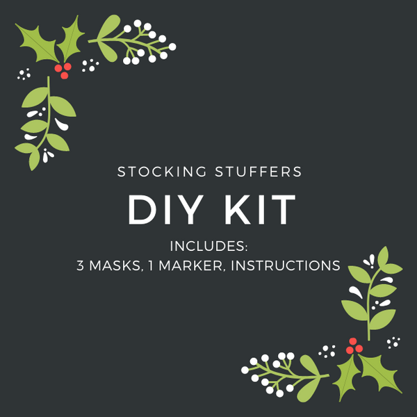 DIY DESIGN FASHION GRAPHIC KIDS and ADULT MASK KIT - 3 MASK INCLUDED - BYOM.CA | BRING YOUR OWN MASK