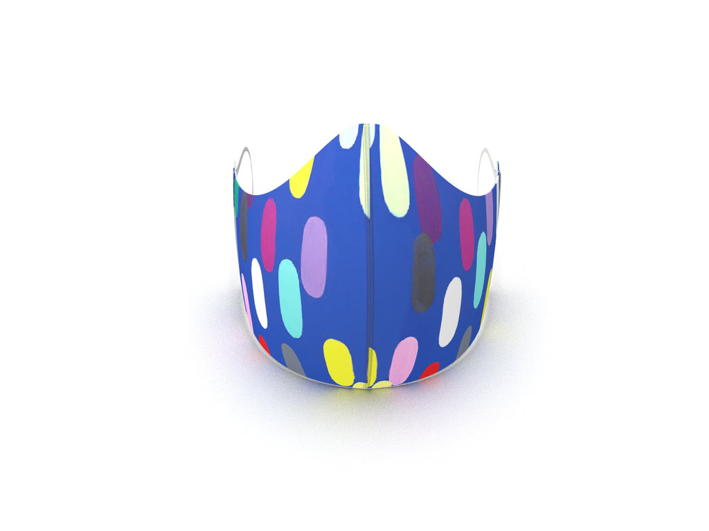 JELLY BEAN SKY BLUE FASHION GRAPHIC KIDS MASK
