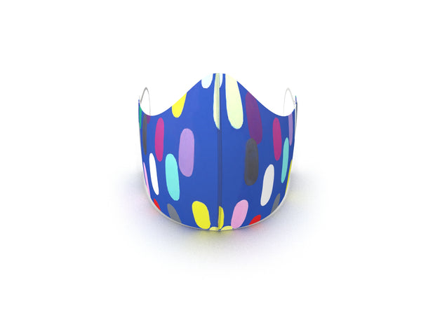 JELLY BEAN SKY BLUE FASHION GRAPHIC KIDS MASK - BYOM.CA | BRING YOUR OWN MASK