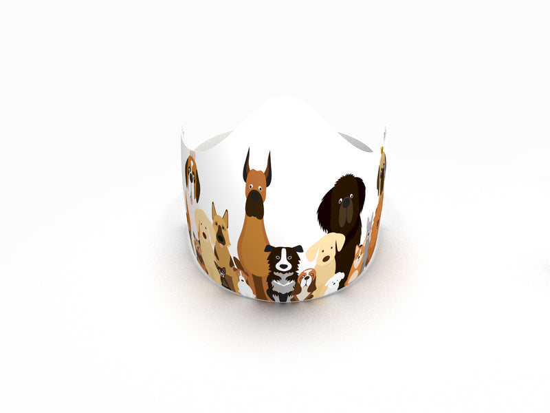 DOG PACK FASHION GRAPHIC KIDS MASK - BYOM.CA | BRING YOUR OWN MASK
