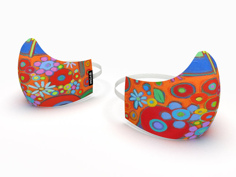 FLOWER POWER FINE ART KIDS MASK - BYOM.CA | BRING YOUR OWN MASK