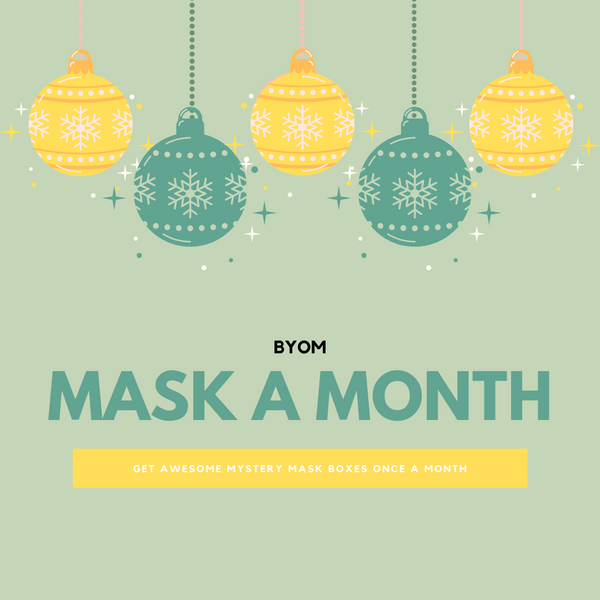 MASK A MONTH FASHION GRAPHIC MASK - BUNDLE - 3 OR 6 MONTHS OPTIONS - BYOM.CA | BRING YOUR OWN MASK