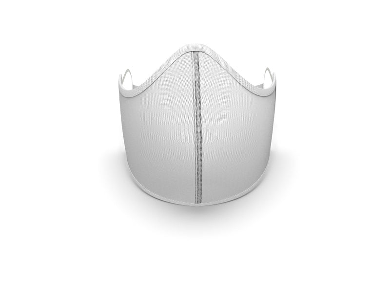 SOLID WHITE MASK with TRIM - BYOM.CA | BRING YOUR OWN MASK