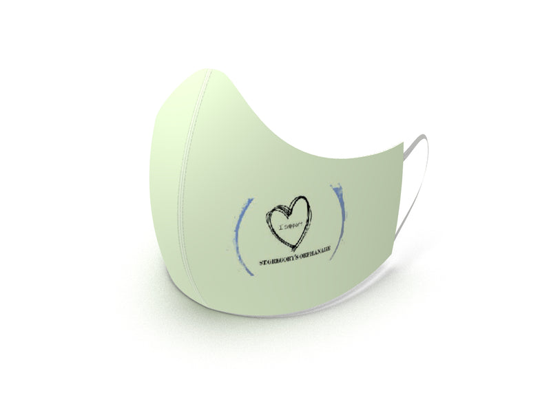 ST GREGORY'S MINT GREEN FASHION GRAPHIC KIDS MASK - BYOM.CA | BRING YOUR OWN MASK