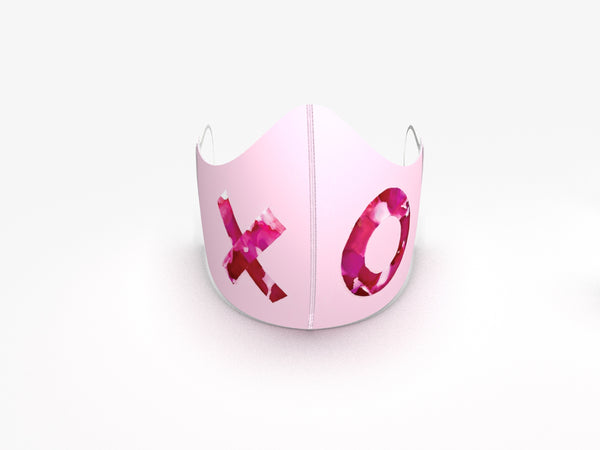 HUGS and KISSES BLUSH FASHION GRAPHIC MASK - BYOM.CA | BRING YOUR OWN MASK
