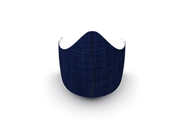 BLUE LINEN FASHION GRAPHIC FABRIC MASK - 3 LAYER - PREORDER SHIP ON MARCH 1ST - BYOM.CA | BRING YOUR OWN MASK