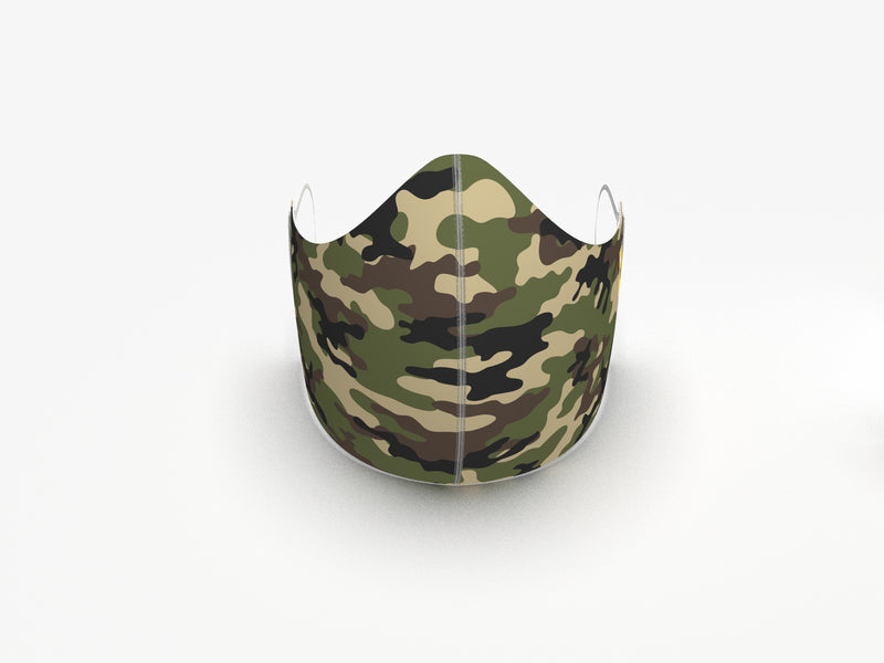 CAMO FASHION GRAPHIC FABRIC MASK - 3 layer - BYOM.CA | BRING YOUR OWN MASK