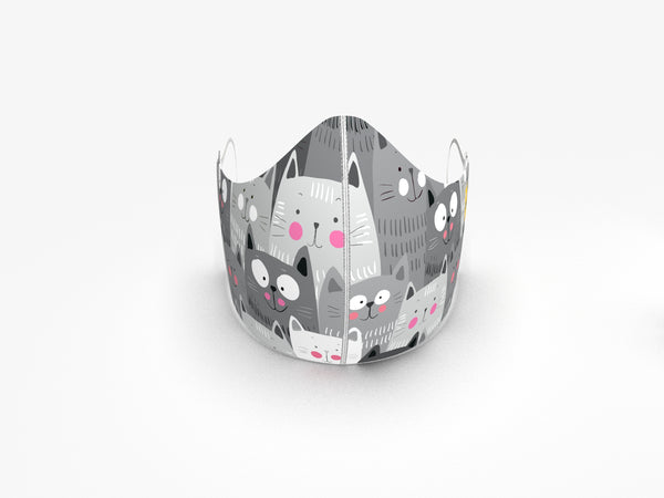 CAT LOVERS FASHION GRAPHIC KIDS MASK - BYOM.CA | BRING YOUR OWN MASK