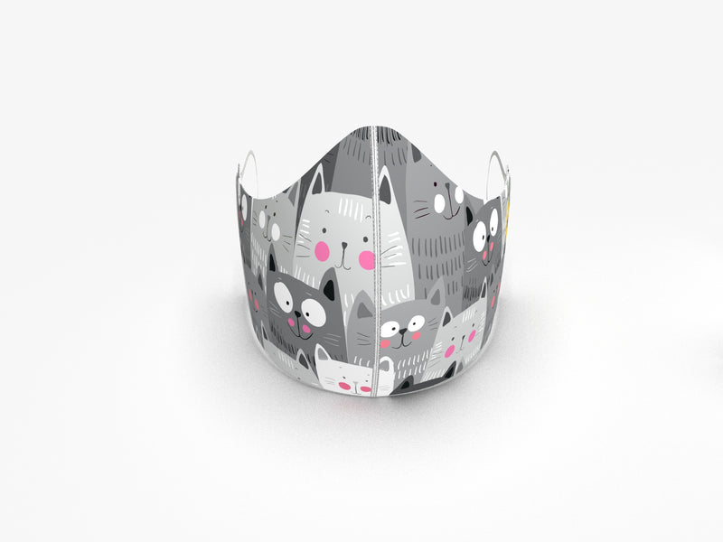 CAT PACK FASHION GRAPHIC MASK - BYOM.CA | BRING YOUR OWN MASK