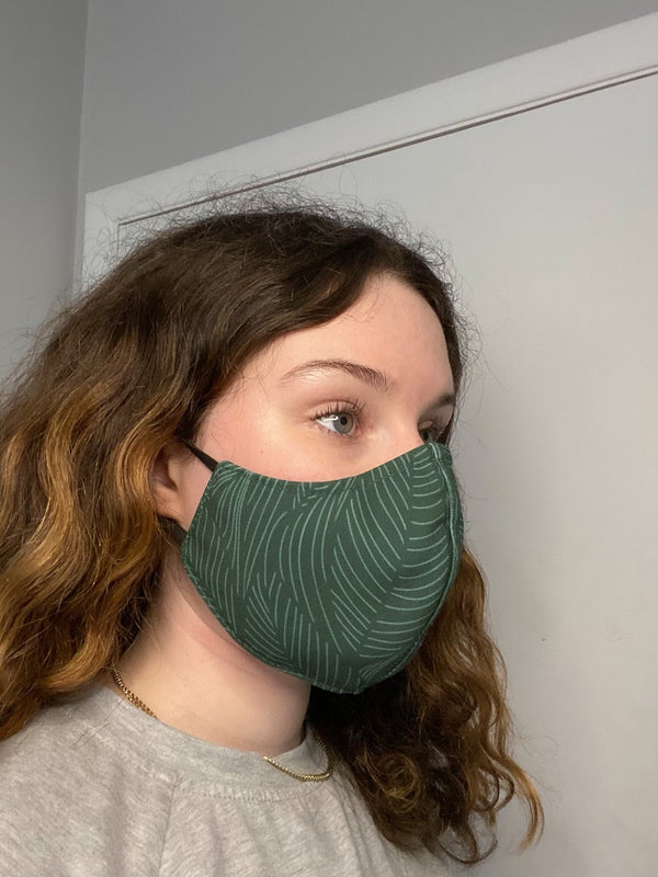 FERN FASHION GRAPHIC FABRIC MASK - 3 LAYER