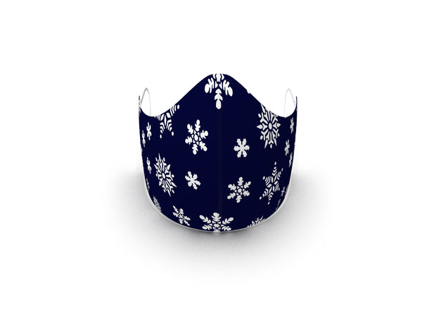 SNOWFALL MIDNIGHT BLUE FASHION GRAPHIC MASK - BYOM.CA | BRING YOUR OWN MASK