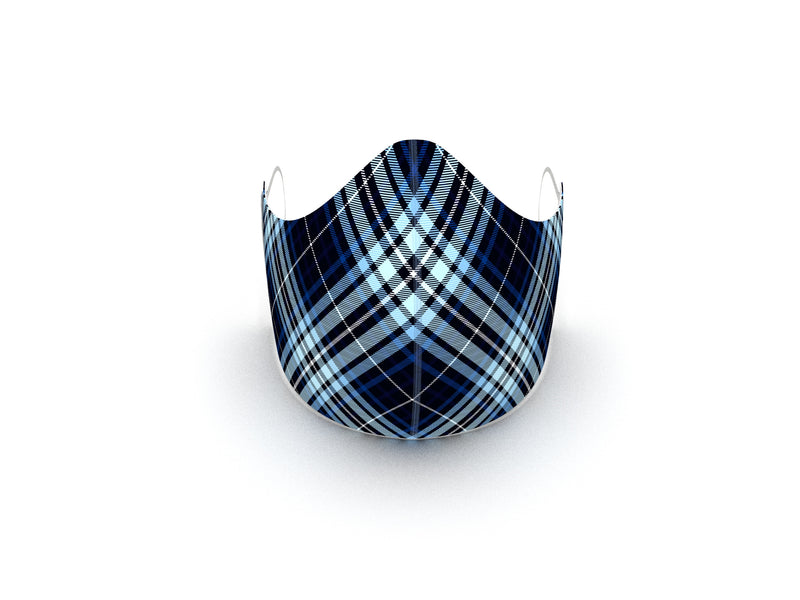 BLUE TARTAN FASHION GRAPHIC MASK - BYOM.CA | BRING YOUR OWN MASK