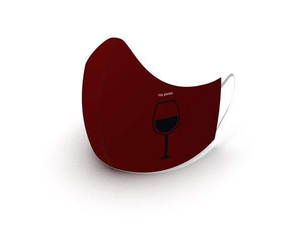 YES PLEASE WINE FASHION GRAPHIC MASK - BYOM.CA | BRING YOUR OWN MASK