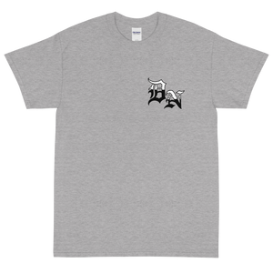 HUSTLE BACK/POCKET LOGO Short Sleeve T-Shirt