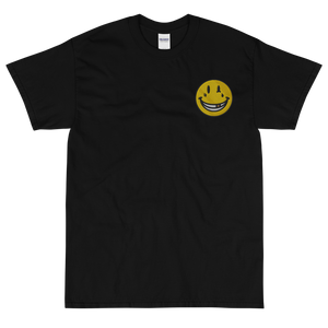EMBROIDERED SMILEY Short Sleeve T-Shirt (In 2 colours)