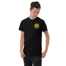 Load image into Gallery viewer, EMBROIDERED SMILEY Short Sleeve T-Shirt (In 2 colours)