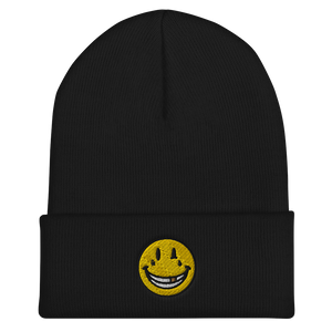 EMBROIDERED SMILEY Cuffed Beanie (In 3 colours)