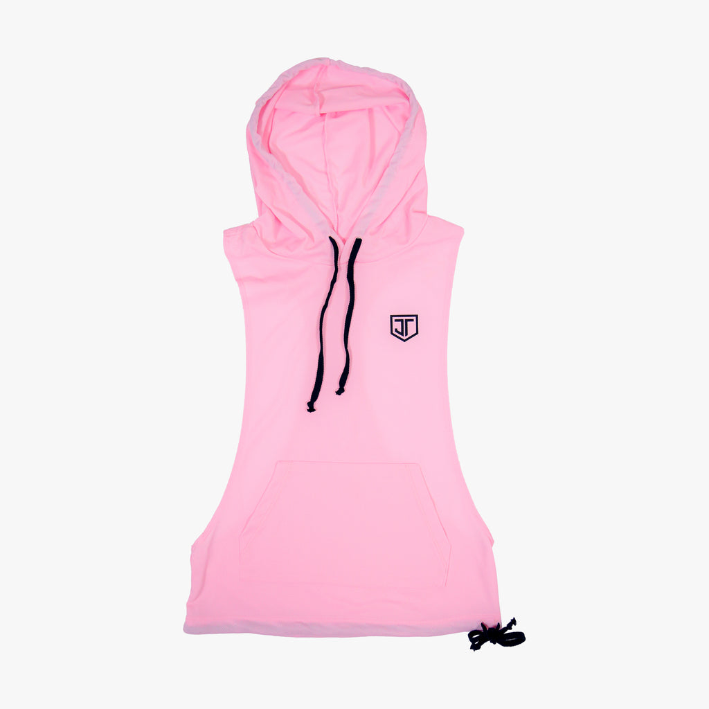 Shield Women's Racerback Hoodie Light Pink