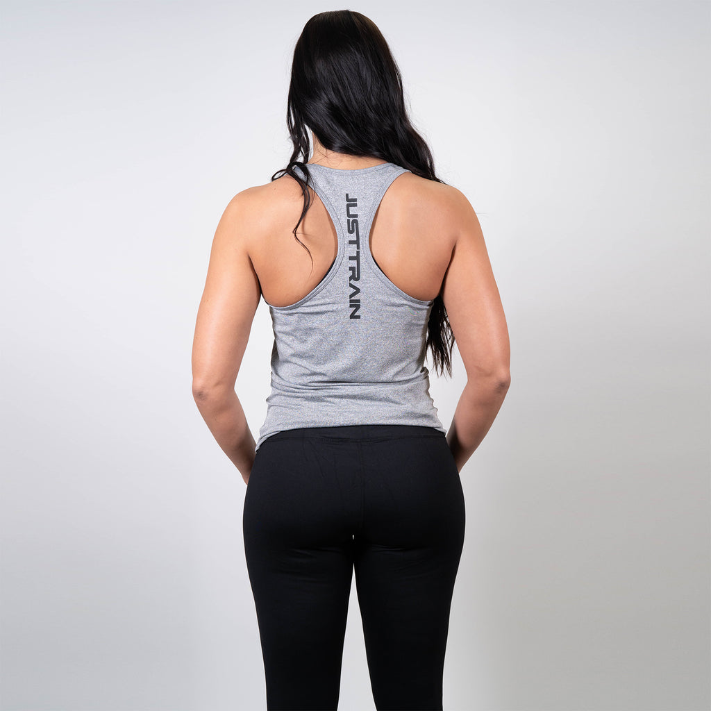 JT Stamp Grey Women's Racerback Tank