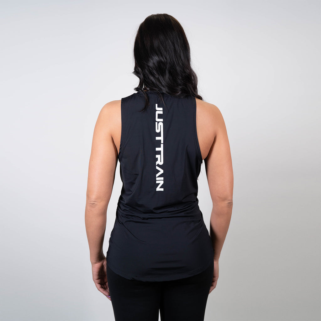 JT Stamp Black Women's Racerback Tank