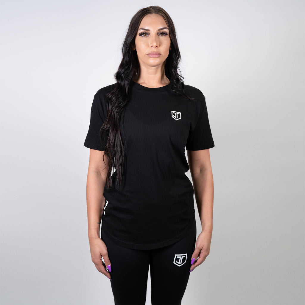 Essential Black Scoop Tee