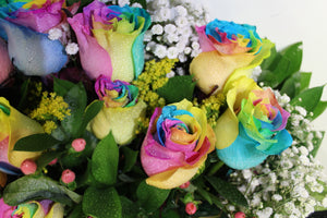 Norma's Rainbow Rose Bouquet