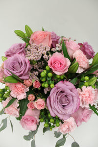 Norma's Pink and Purple Delight Arrangement