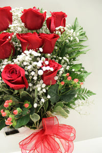 Norma's Red Rose Bouquet