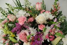 Load image into Gallery viewer, Pink and White Funeral Basket