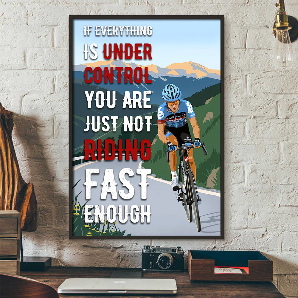 Under Control Cycling Poster