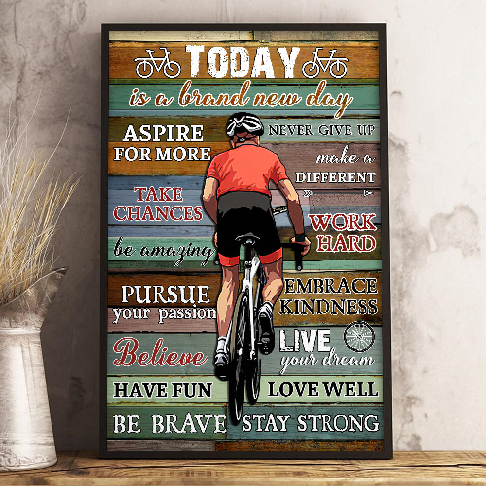 Stay Strong Cycling Poster